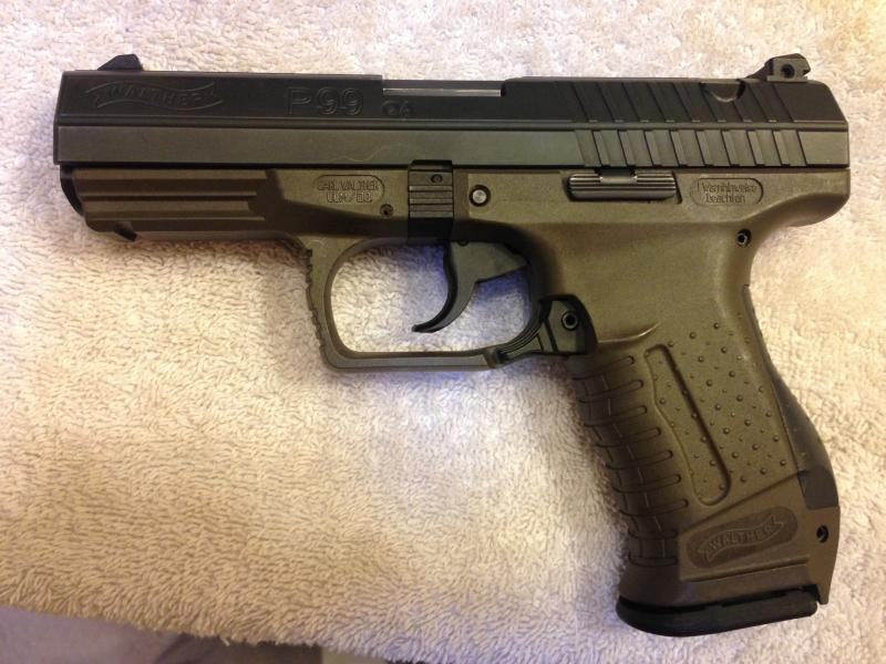 Walther P99 QA .40 OD green frame and holster FS/T | Firearms Sales ...