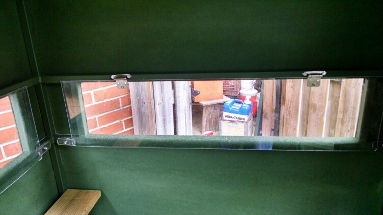 Pics Of New Plexiglass Windows Blinds Amp Feeders Texas