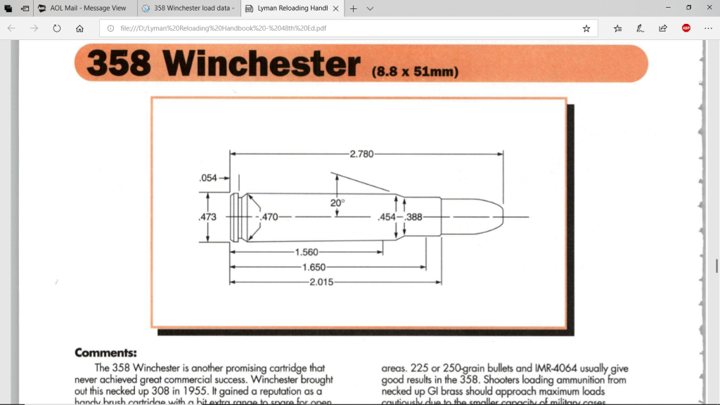 358 Winchester load data - Texas Hunting Forum
